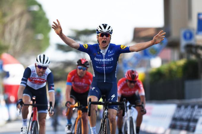Mauri Vansevenant won de GP Industria & Artigianato in het voorjaar.© Getty Images