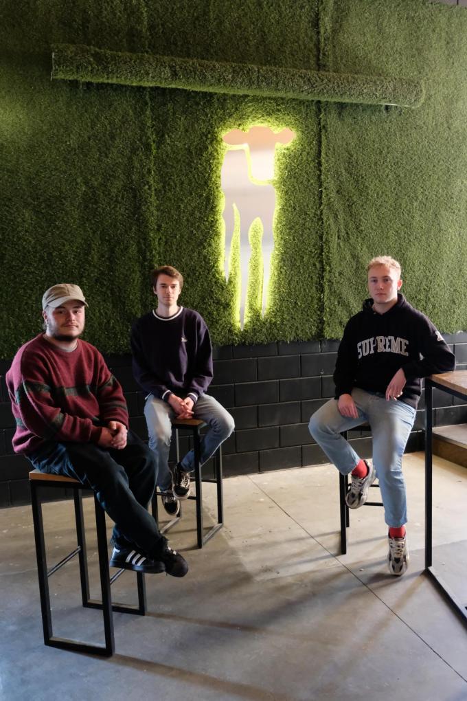 We herkennen Neill Decan, Florian Lambert en Rens Pierloot.© BC