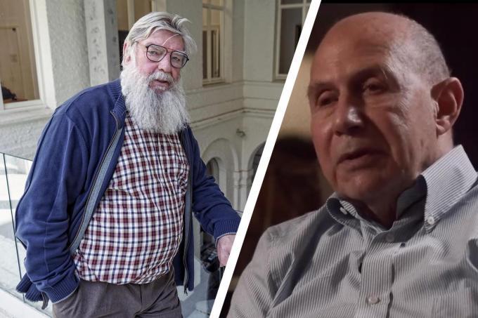 Schepen Herman Ponnet en Holocaust-overlever Nobert Vos.© stad Menen
