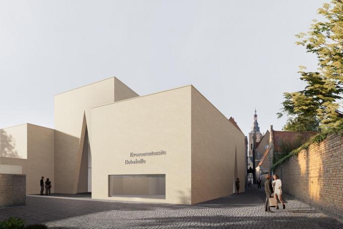 Een beeld van de toekomstige nieuwe Boterhalle.© gf