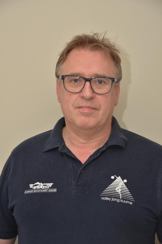 Marc Decoene, voorzitter van VC Jong Kuurne.© BRU