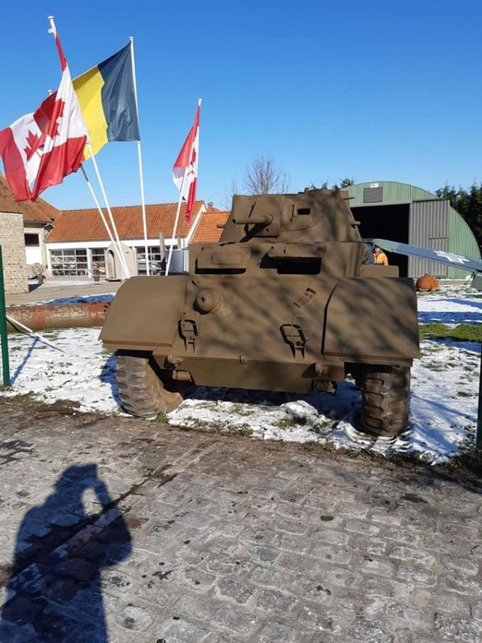 De Staghound tank werd gebruikt door de Canadese bevrijders.© DM
