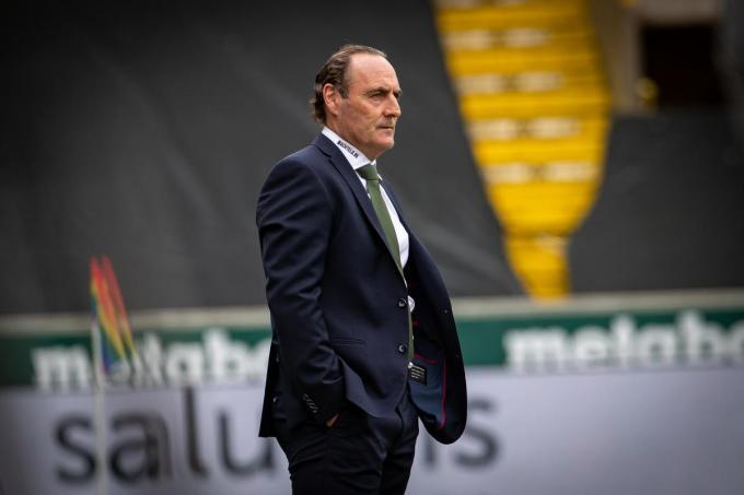 Yves Vanderhaeghe (Cercle Brugge) tijdens de match tussen Cercle Brugge en Beerschot.©KURT DESPLENTER BELGA