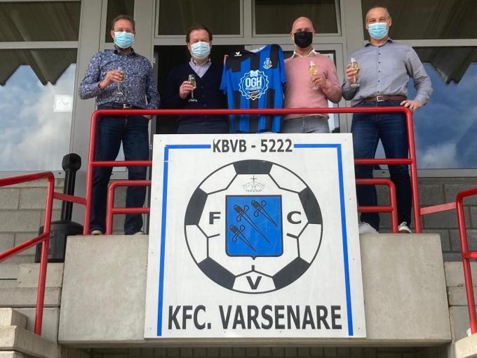 V.l.n.r.: Yannick Bousson (sportief verantwoordelijke), Stefaan Ameel (T1), Steven Lampo (T2) en Danny De Coninck (algemeen coördinator).© JPV