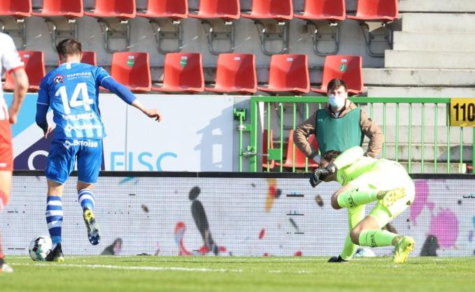 Castro Montes scoorde twee doelpunten voor Gent.© BELGA