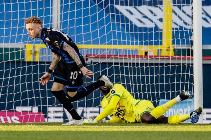 Noa Lang bracht Club Brugge opnieuw op voorsprong met 3-2.© BELGA