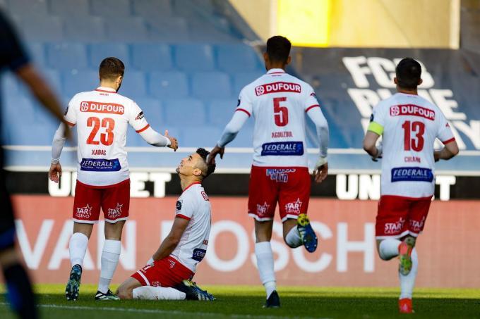 Hamdi Harbaoui scoorde de 0-1.© BELGA