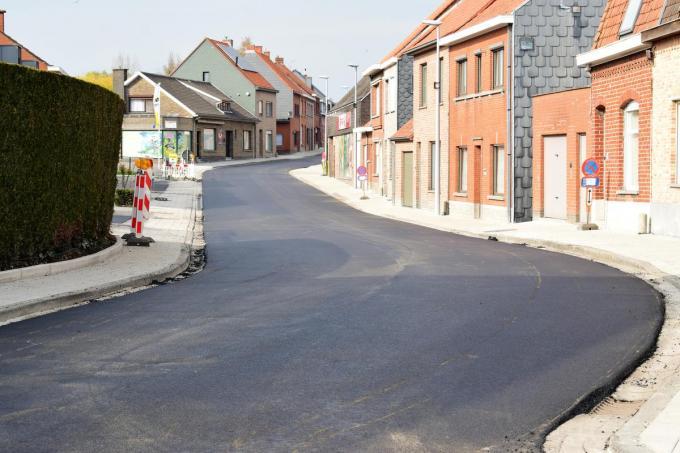 De straat ziet er momenteel piekfijn uit.©zenon bekaert