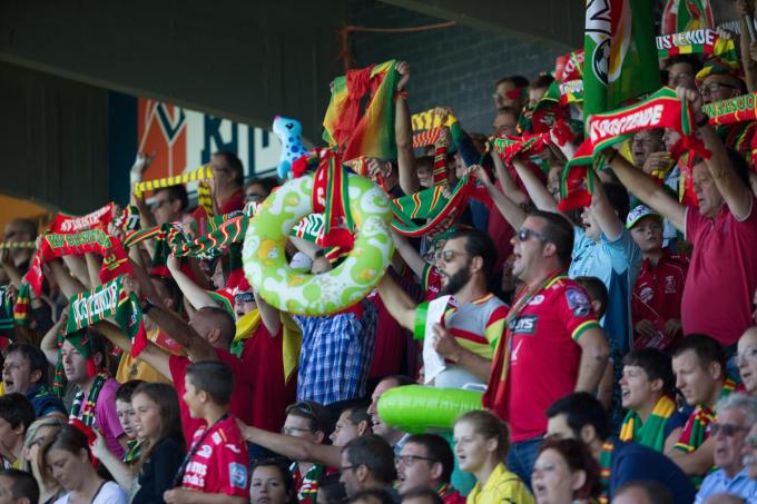 Supporters in actie bij KVO©KURT DESPLENTER BELGA