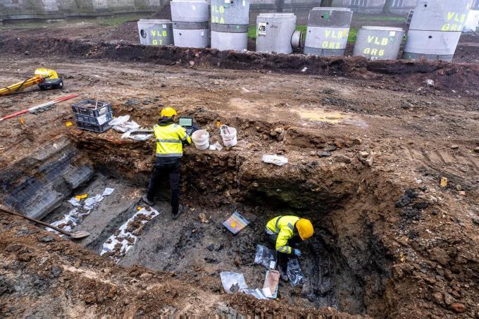 De archeologen troffen al heel wat interessant materiaal aan.©TOERISME IEPER-WESLEY BUTSTRAEN Wesley Butstraen