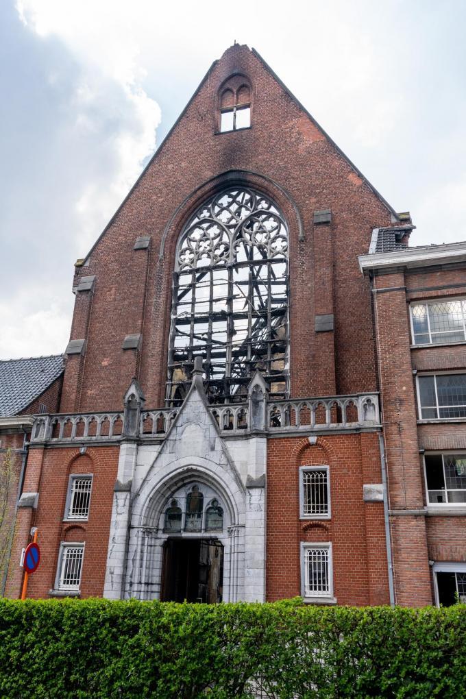 De uitgebrande kapel in Heule.© Kurt De Schuytener