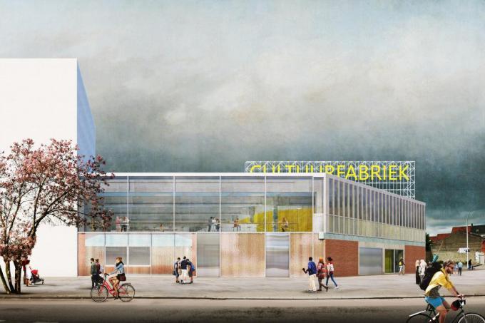 De projectbeeld van de nieuwe cultuurfabriek. (gf)