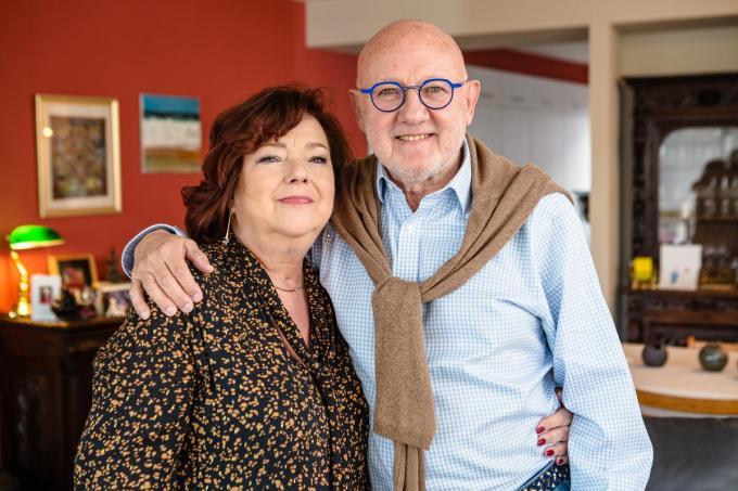 """Anneke Verkouille met haar man Johan De Vylder: """"Enkel de echt belangrijke dingen tellen nu nog.""""©Davy Coghe Davy Coghe"""