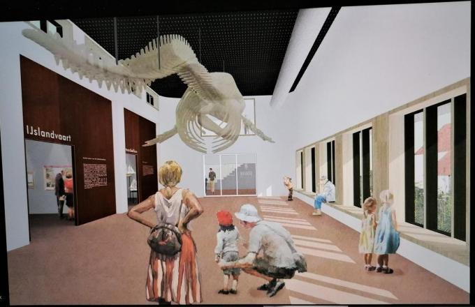 De potvis Valentijn zal de trekpleister worden van het museum.© gf