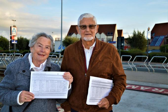 Buurtbewoners Erik De Corte en Arlette Staelens verzamelden een paar jaar geleden 700 handtekeningen voor een tramhalte ter hoogte van de Grote Edestraat. Nu komt die er dus.© WK