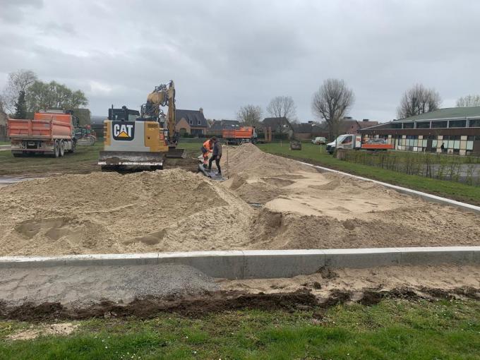 Er werden drie terreinen aangelegd.© Damesvolley Waregem