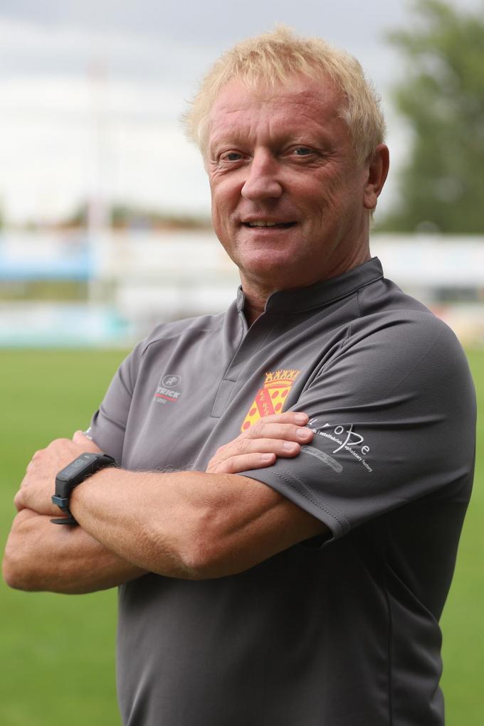 Dit jaar was Maxim Vandamme begonnen aan zijn elfde opeenvolgende seizoen bij E. Wervik. Nu is hij de man die bij SK Roeselare-Daisel de hoog gespannen verwachtingen tracht in te lossen. (foto Bart)© VDB