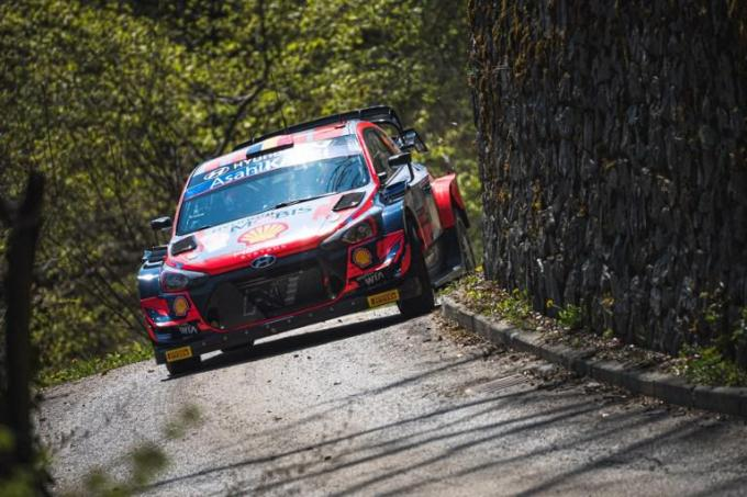 Archief. Thierry Neuville of Belgium and his co-driver Martijn Wydaeghe tijdens de shakedown in Kroatië op 22 april 2021.©ANDREJ ISAKOVIC BELGAIMAGE