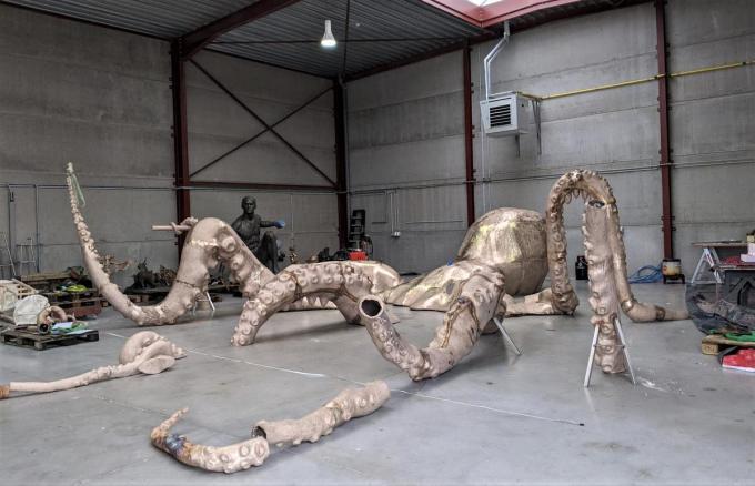 De octopusis klaar voor vertrek naar het strand.©MYRIAM VAN DEN PUTTE MVQ