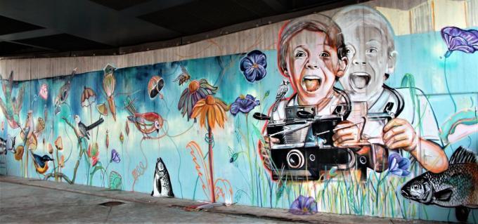 Nieuwe streetart siert drie verborgen locaties.© JVGK