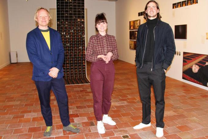"""Hoofdcurator Lize Rubens en curatoren Dieter Van Caneghem en Lieven Lefere: """"Dit is zeker voor herhaling vatbaar.""""© JVGK"""