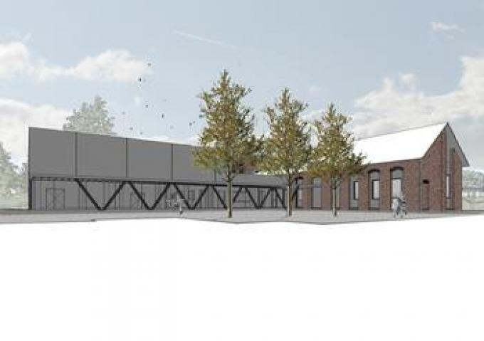 Zo zal het nieuwe ontmoetingscentrum eruit zien.© gf