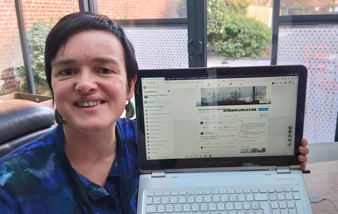 Liselot Henderyckx is beheerder van de Facebookpagina 'Goed nieuws uit Ingelmunster'.© FODI