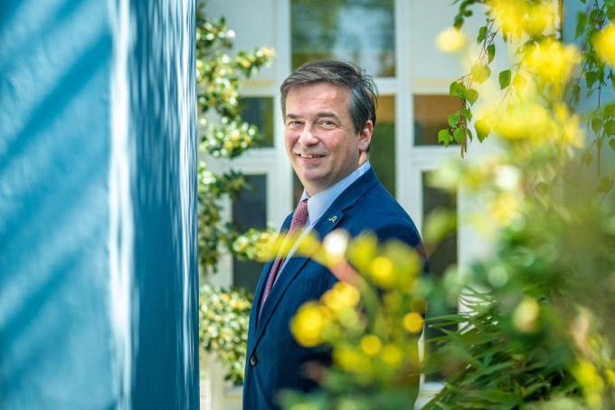 """Burgemeester Kris Declercq: """"Een kopman moet koppig zijn, maar af en toe ook omkijken om te zien of iedereen mee kan. Dat laatste is niet genoeg het geval.""""© Christophe De Muynck"""