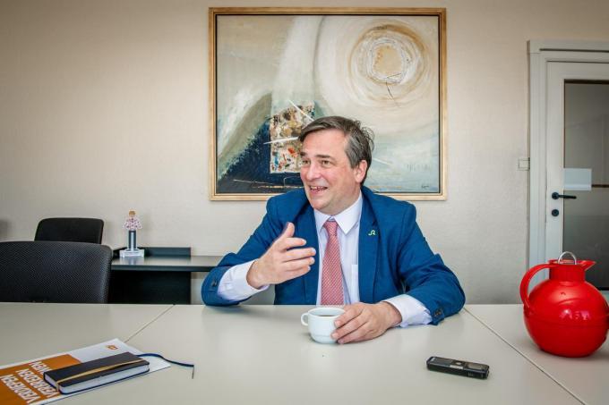"""""""Ik wou een team maken om de partij te leiden. Uiteindelijk koos de partij toch voor het klassieke voorzitterschap.""""© Christophe De Muynck"""