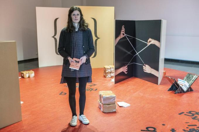 Kelly Schacht exposeert voor het eerst in haar geboortestad. (foto SB)© Stefaan Beel