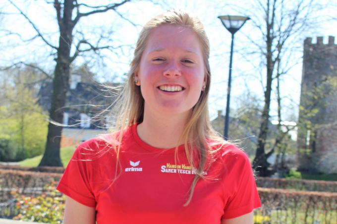 """Justine Vienne bereidt zich voor op een marathon. """"Indien de coronamaatregelen het toestaan, wordt het wellicht die van New York in november.""""© Laurette Ingelbrecht"""