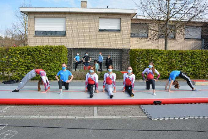 Flink en Fris biedt al heel het jaar trainingen aan op de parking voor de turnhal.© foto SM