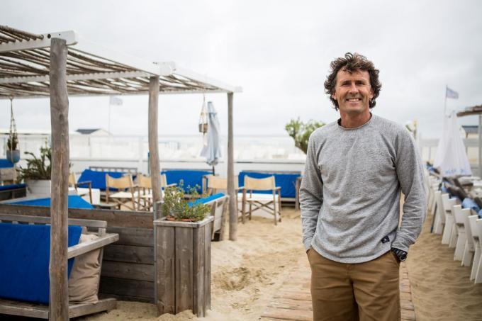 """Erwin Renders van de Blue Beach in Blankenberge: """"Goed dat we nu een vaste plaats hebben.""""©Davy Coghe Davy Coghe"""