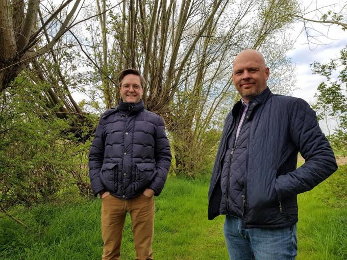 Lysander Werbrouck en Kristof Vandewoestijne delen de liefde voor jacht en natuur. (foto GV)