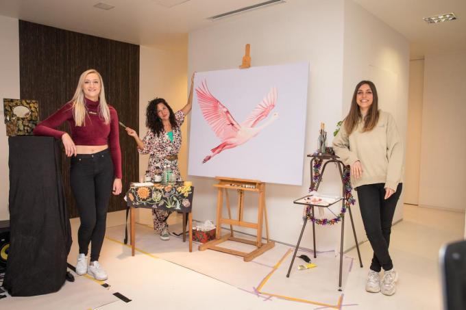 Nadine Adjani, Monica Villaroel en Femke Strijbos.© TVK