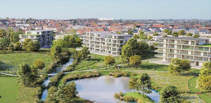 De grote wijk krijgt een centraal stadspark.© gf