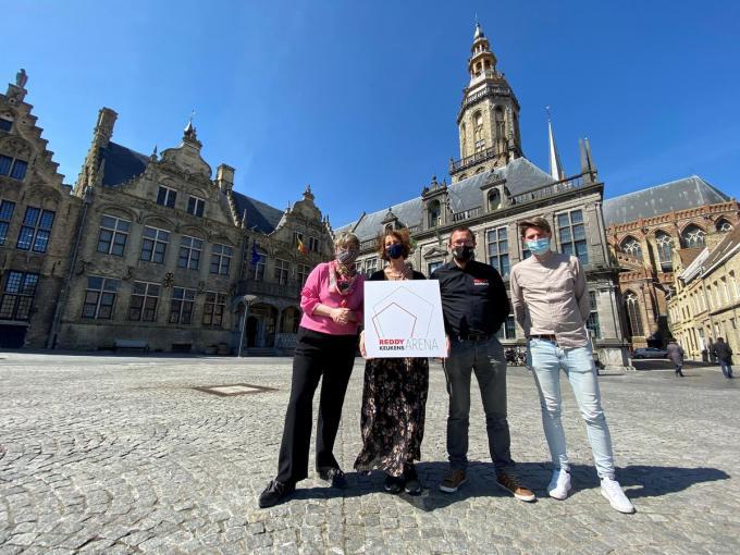 Schepen Celine Mouton, Reinhilde De Brabandere, Tom Declerck, Michael Lemenu (Visit Veurne).© MVO
