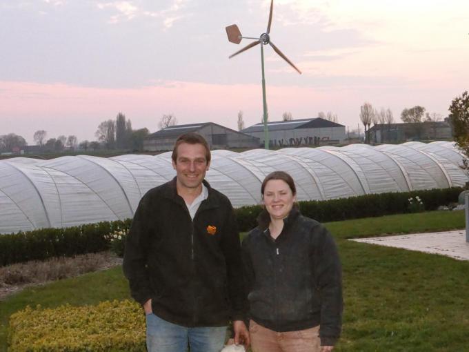 De familie Cornette is bijzonder tevreden met hun eigen windmolen.© MDP