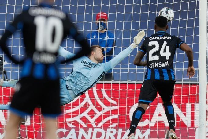 Bruun Larsen scoort de 1-2 in de 86ste minuut.© BELGA