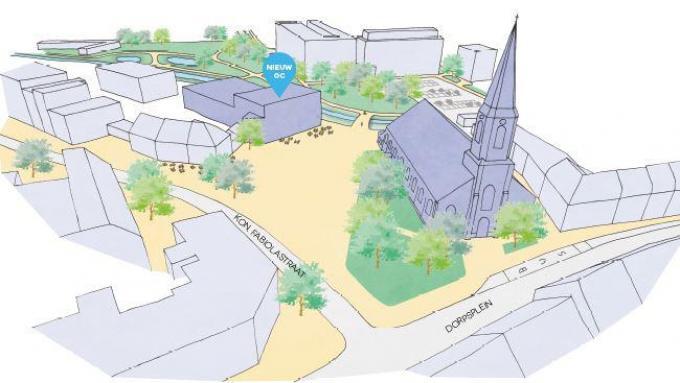 Zo zal Gullegem centrum er binnen vier jaar uitzien.© gf