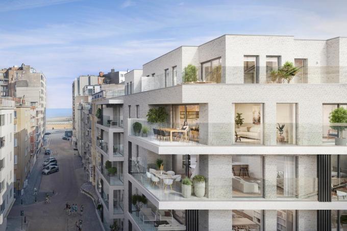 De 36 appartementen zullen grote terrassen hebben.©Steenoven