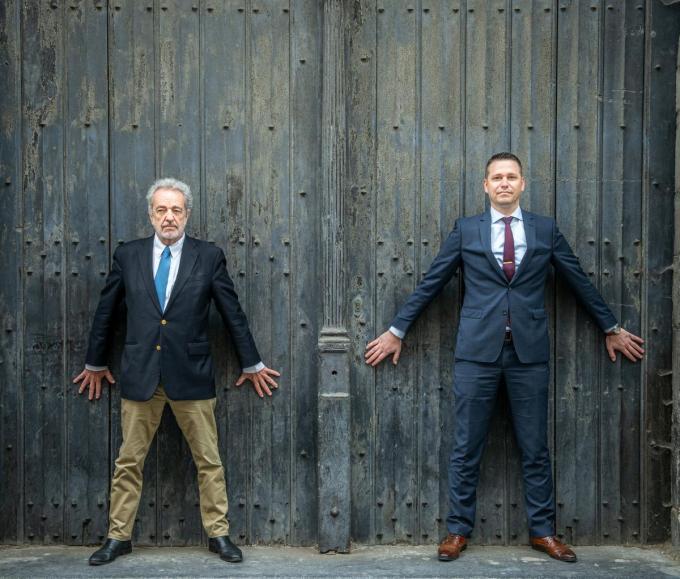 Gerolf Annemans en Tom Vandendriessche.© Christophe De Muynck