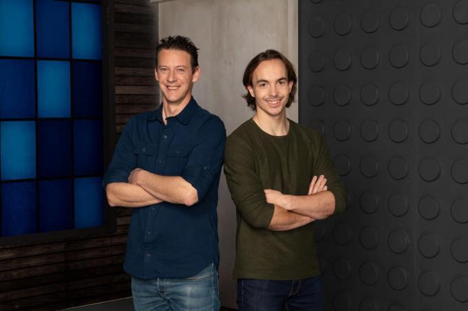 Jan Lewyllie (links) en zijn kompaan Julien Andries.© Piotr Owczarzak