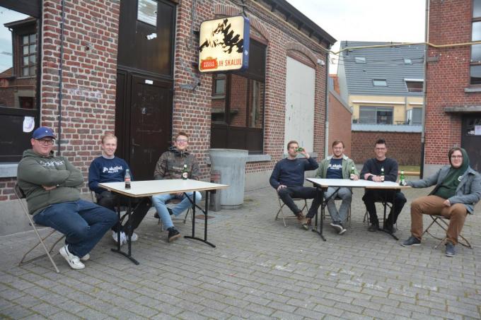 Joris Lagae, Brent Callewaert, Davy Verbeke, Lowie Scheldeman, Jordy Vandenbussche, Maxim Viaene en Brian Demets.© CLY