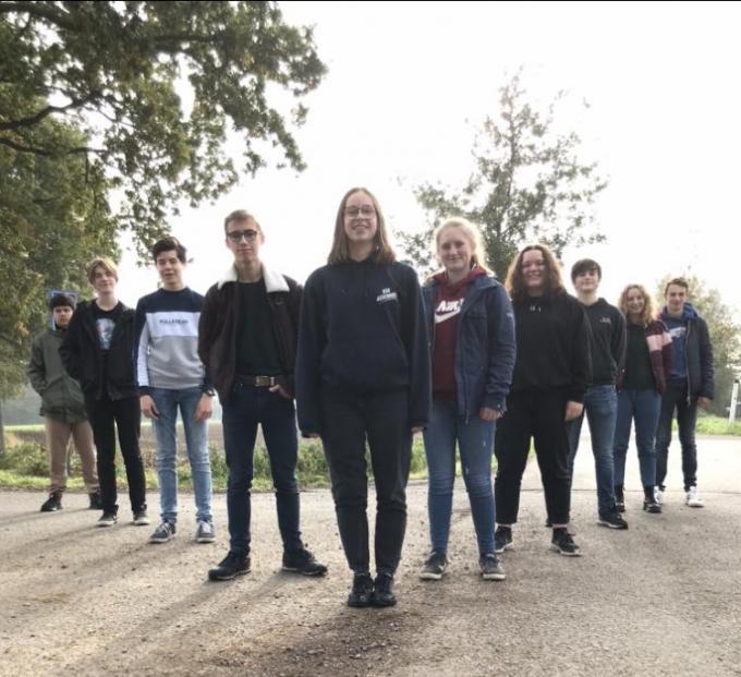De ondernemende leerlingen van de Land- en Tuinbouwschool in Oedelem.© AVH