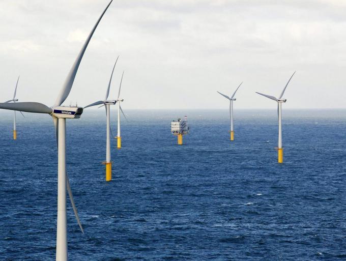 Windmolenpark in Zeebrugge.©NICOLAS MAETERLINCK BELGA