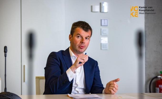 Bert Mons, gedelegeerd bestuurder van Voka West-Vlaanderen.© Kamer van Koophandel West-Vlaanderen