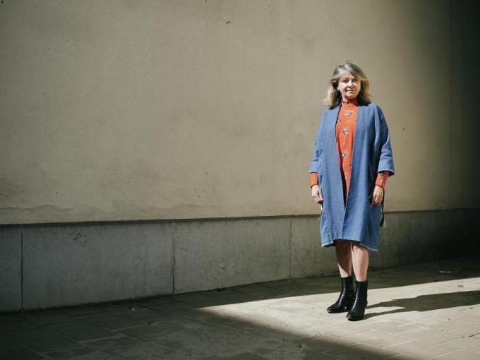 """Katelijne Verbeke: """"Ik wil deelnemen aan het leven, want dan kan ik er ook iets over zeggen, dan kan ik foeteren op wat fout gaat."""" (Foto Joris Casaer)©JORIS CASAER"""