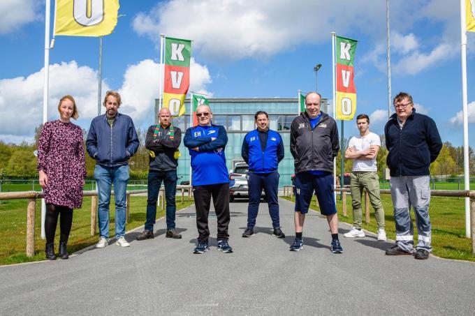 Lies Van Laar, Bram Keirsebilck, Thorsten Theys, Eric Heyrick, Bart Brackez, Johan Hoste, Nigel Kerkhove en Luc Benthein.©Davy Coghe Davy Coghe