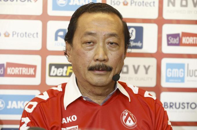 Vincent Tan, eigenaar van KV Kortrijk sinds 2015.© BELGA